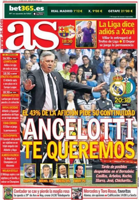 Il quotidiano spagnolo AS