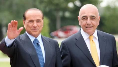 Berlusconi e Galliani (foto calcioweb.eu)