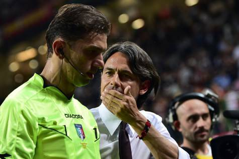 Tagliavento e Inzaghi (getty images)