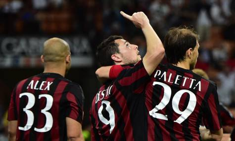 Destro esulta con Alex e Paletta (getty images)