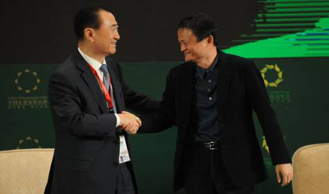 Wang Jianlin e Jack Ma (getty images)