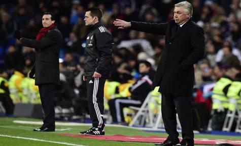 Emery e Ancelotti (getty images)