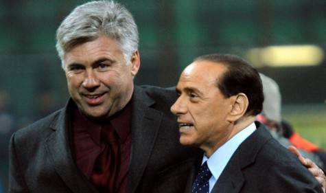 Carlo Ancelotti e Silvio Berlusconi (getty images)
