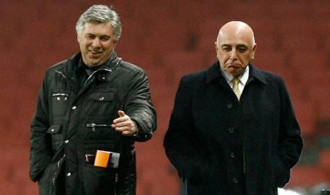 Carlo Ancelotti e Adriano Galliani (foto google)