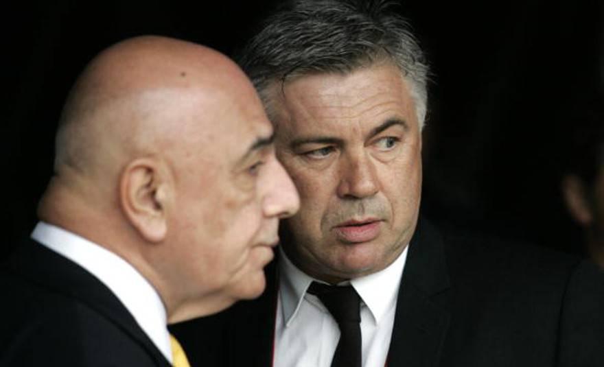 Adriano Galliani Carlo Ancelotti