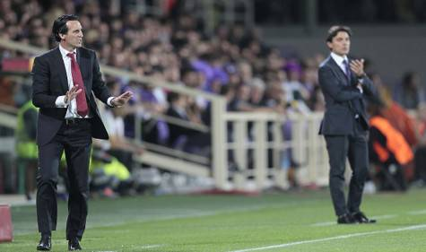 Unai Emery e Vincenzo Montella (getty images)