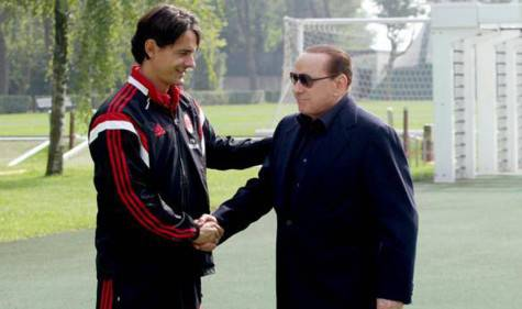 Inzaghi e Berlusconi (gazzetta.it)