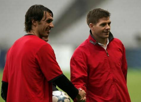 Paolo Maldini e Steven Gerrard (Getty Images)