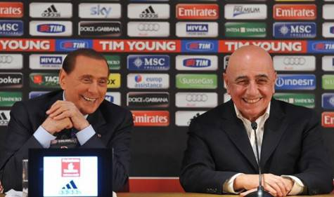 Silvio Berlusconi e Adriano Galliani (foto da repubblica.it)