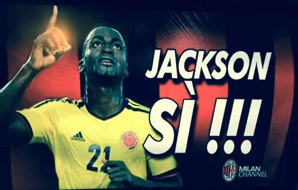 """Anche Milan Channel annuncia: """"Jackson Martinez sì"""" - FOTO"""