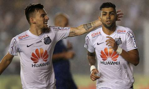 Lucas Lima e Gabriel Barbosa (Getty Images)