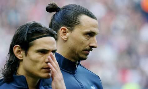 Edinson Cavani Zlatan Ibrahimovic