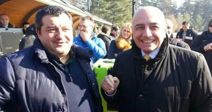 Mino Raiola e Adriano Galliani (foto dal web)