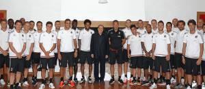 Berlusconi a Milanello (foto acmilan)