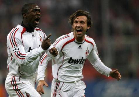 Clarence Seedorf e Andrea Pirlo (Getty Images)