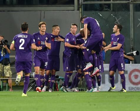 Fiorentina in festa contro il Milan (Getty Images)