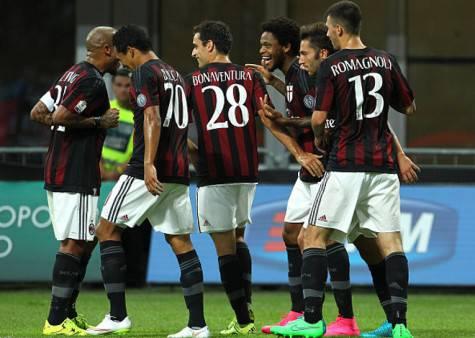 Il Milan esulta (getty images)