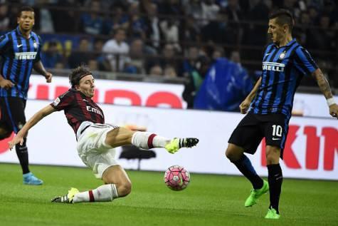 Riccardo Montolivo vs Stevan Jovetic (Getty Images)