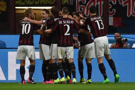 L'esultanza del Milan (© Getty Images)