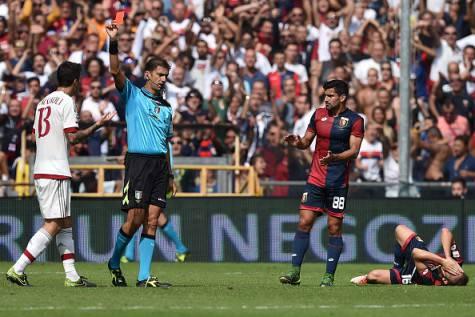 Tavaglianto mostra il rosso a Romagnoli (Getty Images)