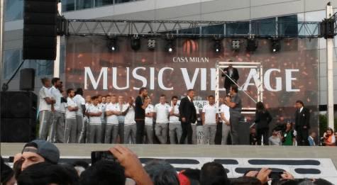 Milan sul palco (foto goal italia)
