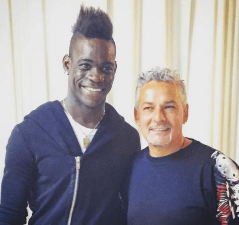 Mario Balotelli e Roberto Baggio (instagram)