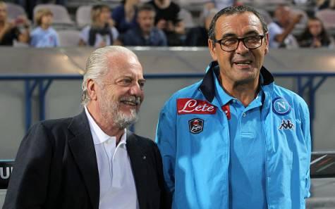 Aurelio De Laurentiis e Maurizio Sarri (Getty Images)