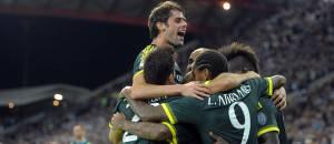 I giocatori del Milan festeggiano un gol contro l'Udinese (Getty Images)