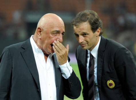Adriano Galliani & Massimiliano Allegri (Getty Images)
