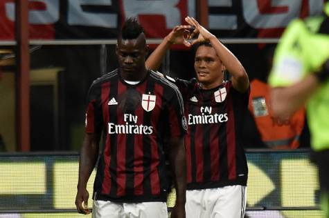 Balotelli e Bacca (getty images)