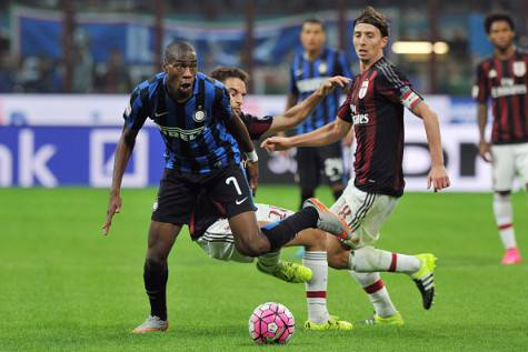 Kondogbia e Riccardo Montolivo (Getty Images)