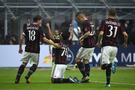 L'esultanza dei rossoneri al gol di Bacca (Getty Images)