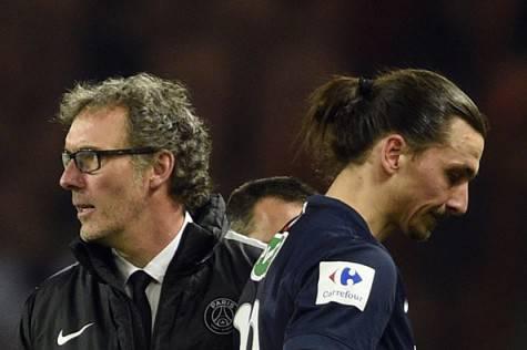 Laurent Blanc Zlatan Ibrahimovic