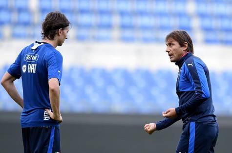 Riccardo Montolivo e Antonio Conte