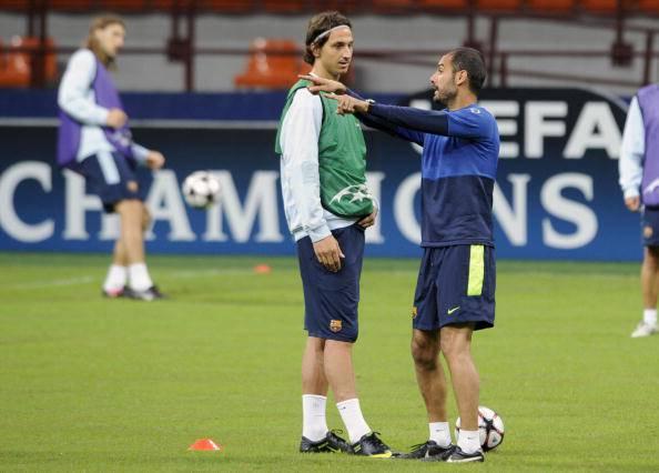 Zlatan Ibrahimovic Josep Guardiola