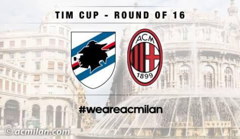 Coppa Italia, Sampdoria-Milan