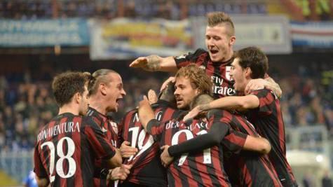 Il Milan esulta (foto gazzetta.it)