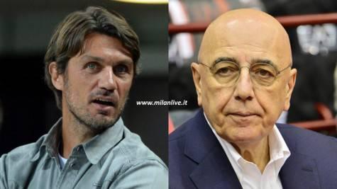 Paolo Maldini e Adriano Galliani