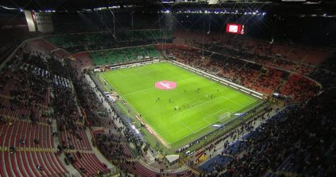 Milan inter san siro pieno ma la curva sud contester - Cosa si puo portare allo stadio san siro ...