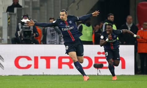 Zlatan Ibrahimovic e Serge Aurier