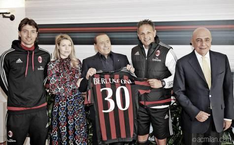 Barbara e Silvio Berlusconi, Sinisa Mihajlovic, Adriano Galliani, Riccardo Montolivo