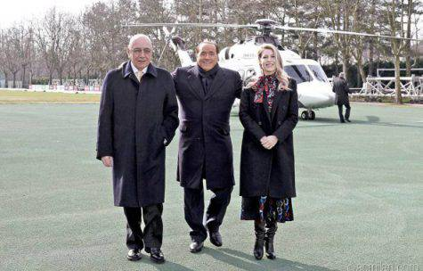 Galliani Berlusconi Silvio Barbara