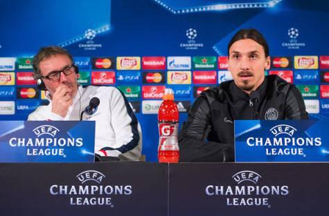 Laurent Blanc e Zlatan Ibrahimovic