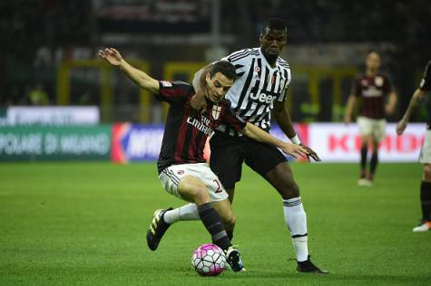 Giacomo Bonaventura e Paul Pogba (©Getty Images)