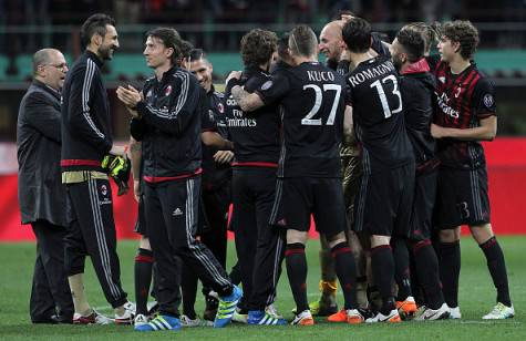 Il gruppo Milan (©getty images)