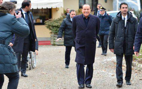 Berlusconi a Milanello (foto dal web)