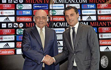 Adriano Galliani e Vincenzo Montella (foto acmilan.com)