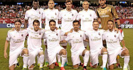 Il Milan contro il Bayern (foto acmilan.com)