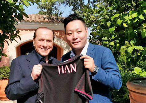 Silvio Berlusconi e Han Li (Photo by XH Sports)