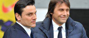 Vincenzo Montella con Antonio Conte (©getty images)
